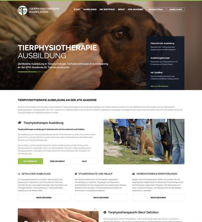 Tierphysiotherapie Ausbildung - ATM Akademie