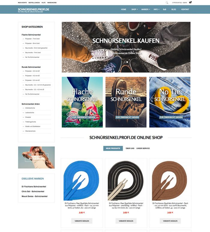 Schnürsenkelprofi.de - Online Shop