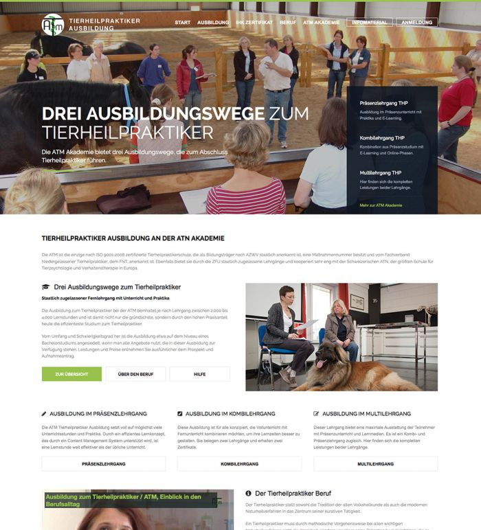 Tierheilpraktiker Ausbildung - ATM Akademie
